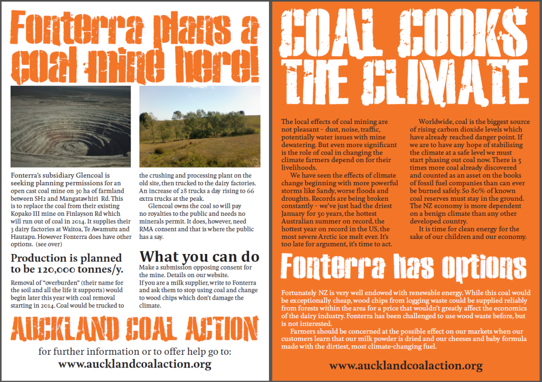 ACA Fonterra leaflet