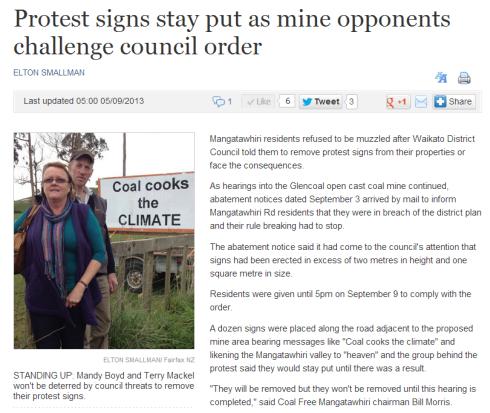 Waikato Times article