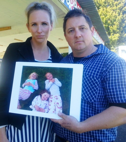 Aimee and Brad Whyte, opposing the mine for the sake of their kids.