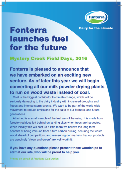 Fonterra fuel for the future